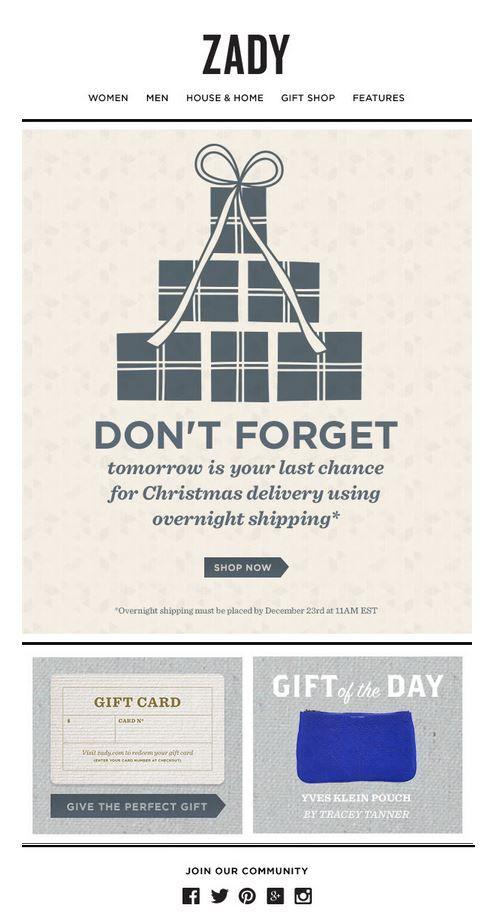 Email Design  Reminder Emails    Email Design Holiday