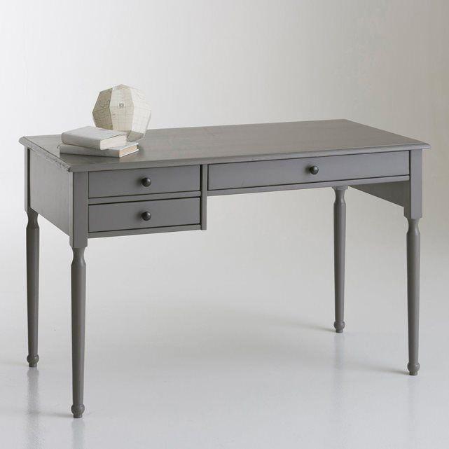 Bureau Pin Massif Authentic Style La Redoute Interieurs Mobilier De Salon Bureau Gris Bureau En Pin