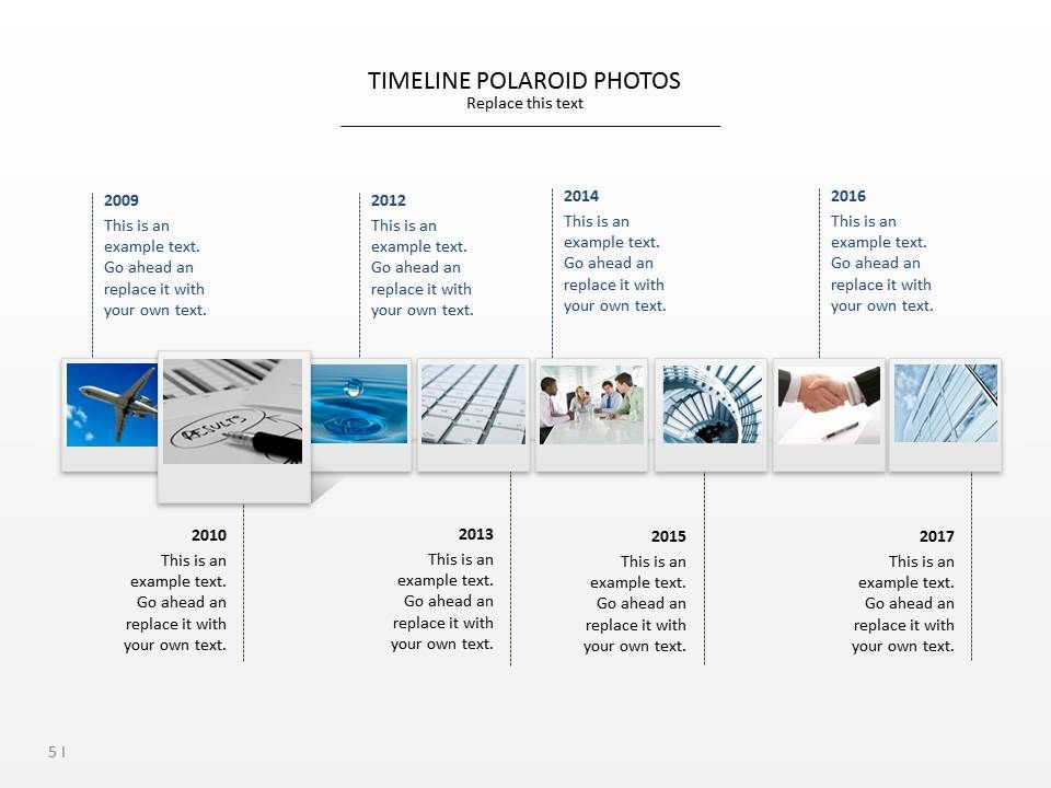 Powerpoint Slide Templates  Timeline Polaroid Photos  Timeline