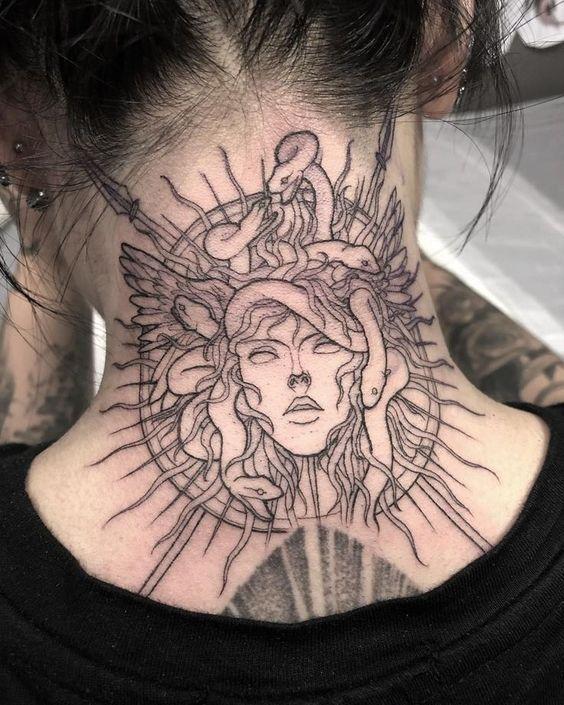 Inspiring Neck Tattoos for Girls -   - #girls #inspiring #Neck #tattooideascollarbone #tattooideasformen #tattooideasunique #tattoos