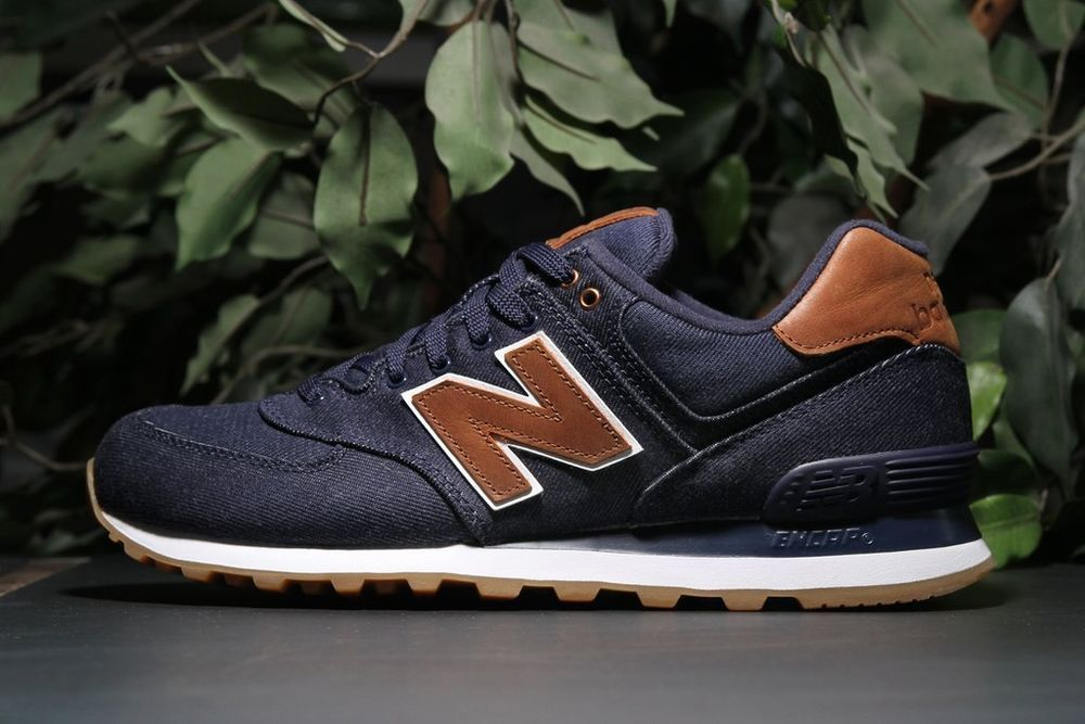 New Balance 574 blue brown  fashion  clothing  shoes  accessories   mensshoes   a21ac243a
