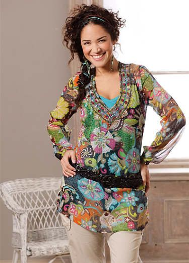 a844464c1ce09 Buy Quirky Tunic Blouse online at Curvissa | Clothes-tops | Tunic ...