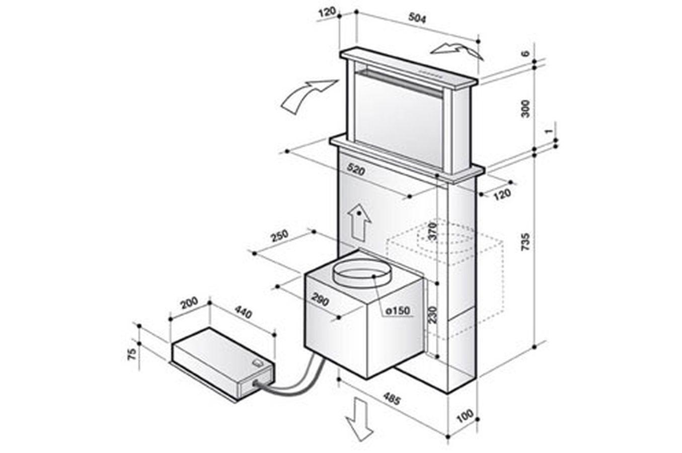 hotte escamotable de dietrich dhd 1101 x 015 pro hotte. Black Bedroom Furniture Sets. Home Design Ideas