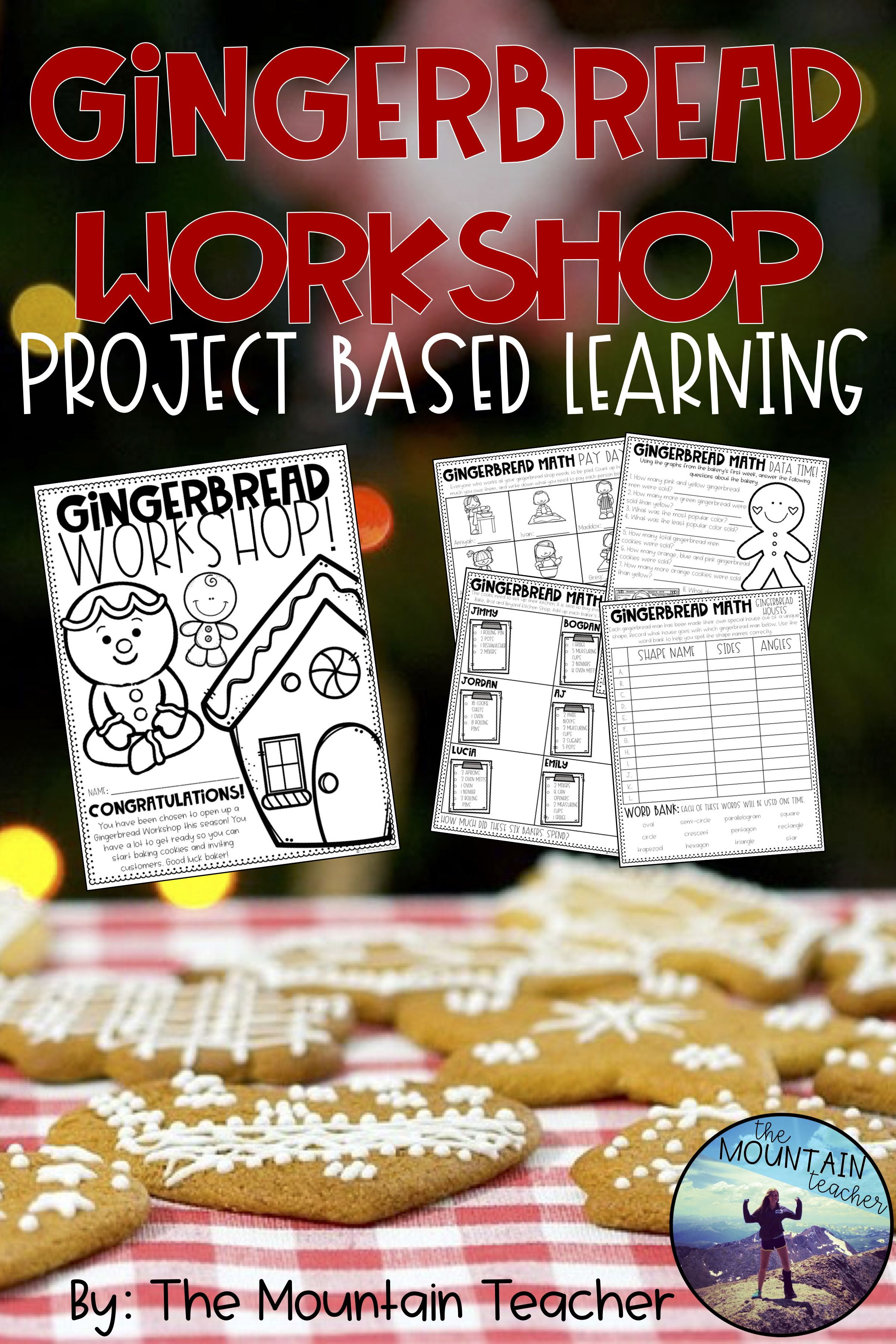 Gingerbread Man Pbl Math Project With Images
