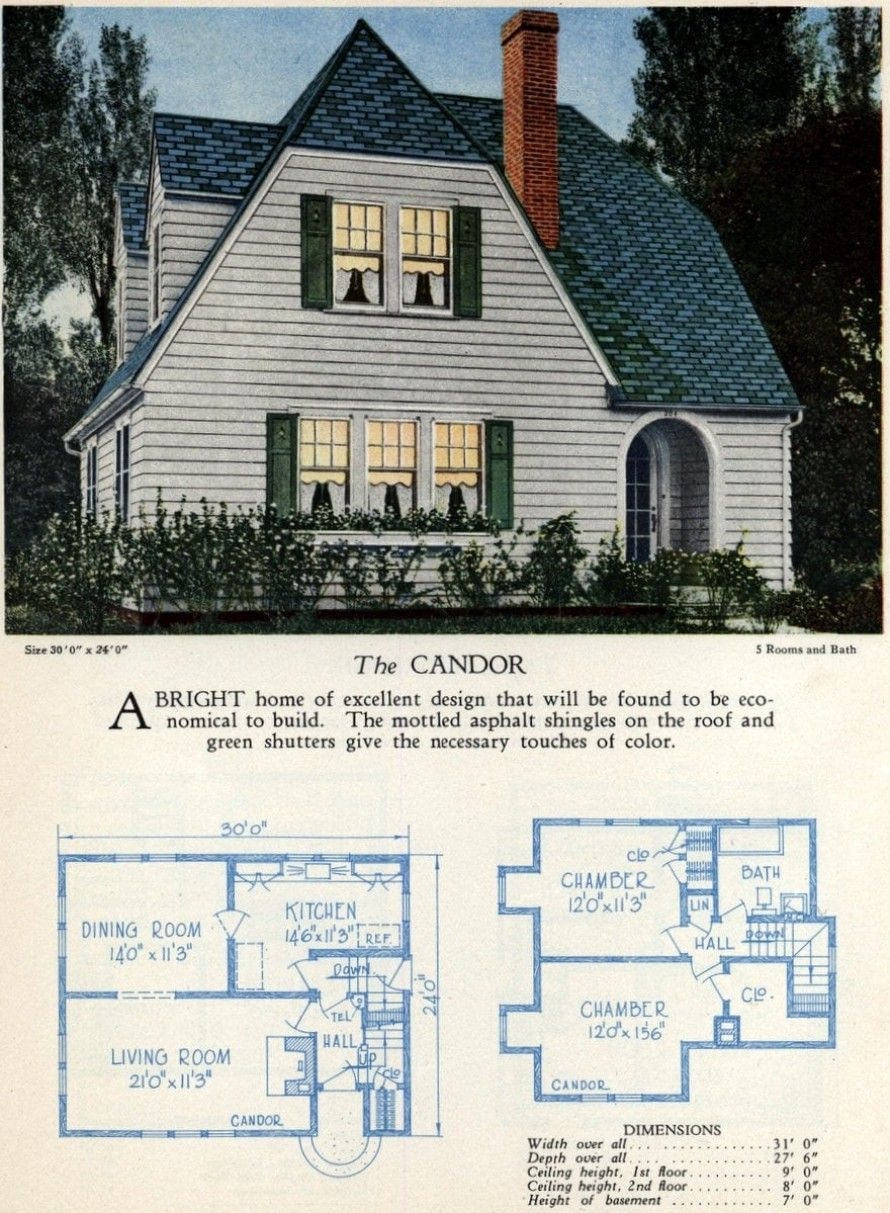 62 Beautiful Vintage Home Designs Floor Plans From The 1920s American Home Design Home Design Floor Plans Sims House Design