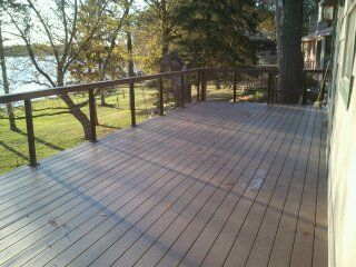 Holy Cow Black Aluminum Posts With Trex Decking Top Rail Would You Go With A Composite Or Wood Deck Cable Railing Cable Railing Systems Cable Railing Deck