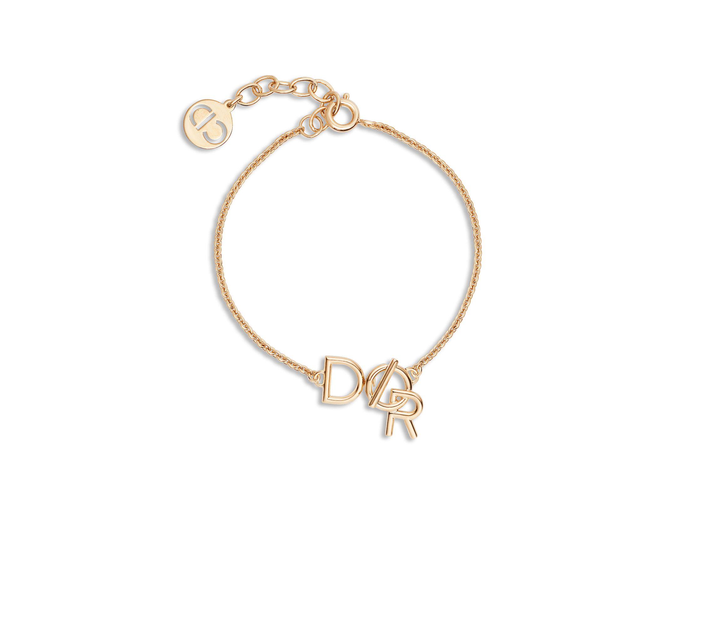 Fashion Silver//Gold Classique Lettre Bangle Bracelet