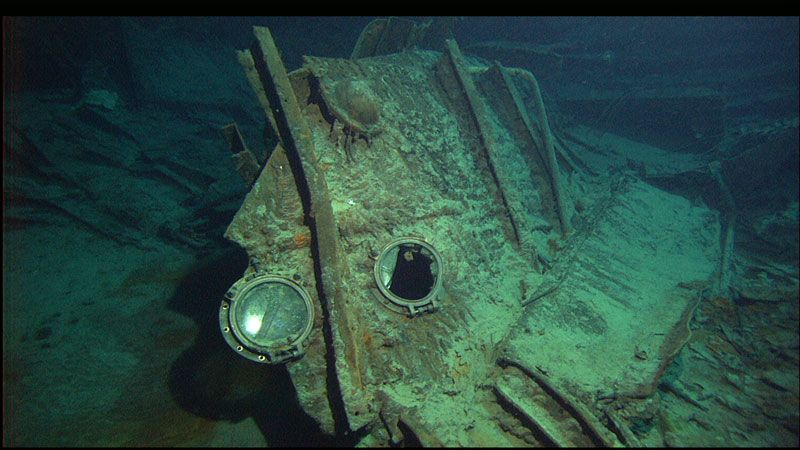 Image result for titanic found underwater