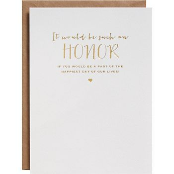Be Part of Our Day Wedding Card