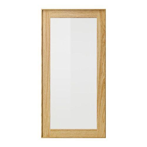 IKEA - EKESTAD, Vitrinelåge, 40x80 cm, , EKESTAD låge har en tynd ramme af massiv eg og et panel af egetræsfiner. Designet er tidløst med enkle linjer, der fremhæver træets åremønster. Eg gi