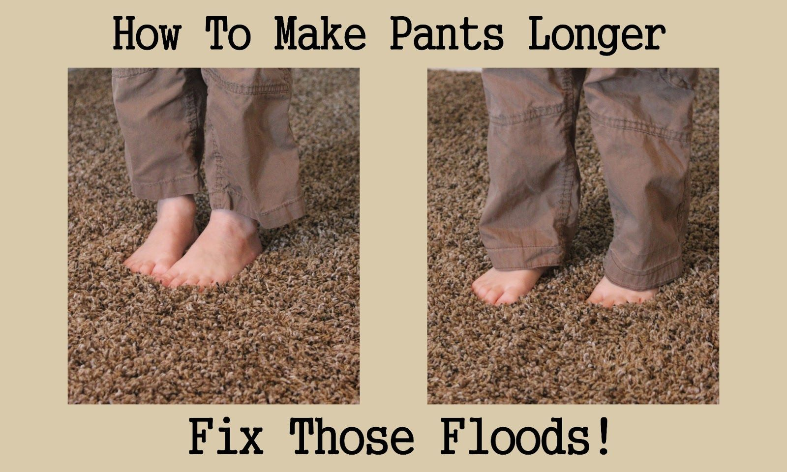 How To Hem Pants With A Cuff How To Make Your Pants Longer No More Floods Altering Pants Sewing Pants How To Hem Pants