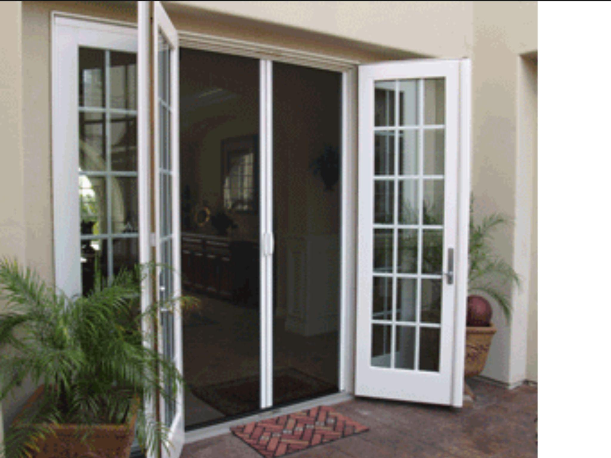 Screened French Door For Eat In Kitchen French Doors Exterior
