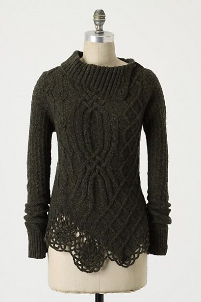 Cabled Pathways Pullover #anthropologie