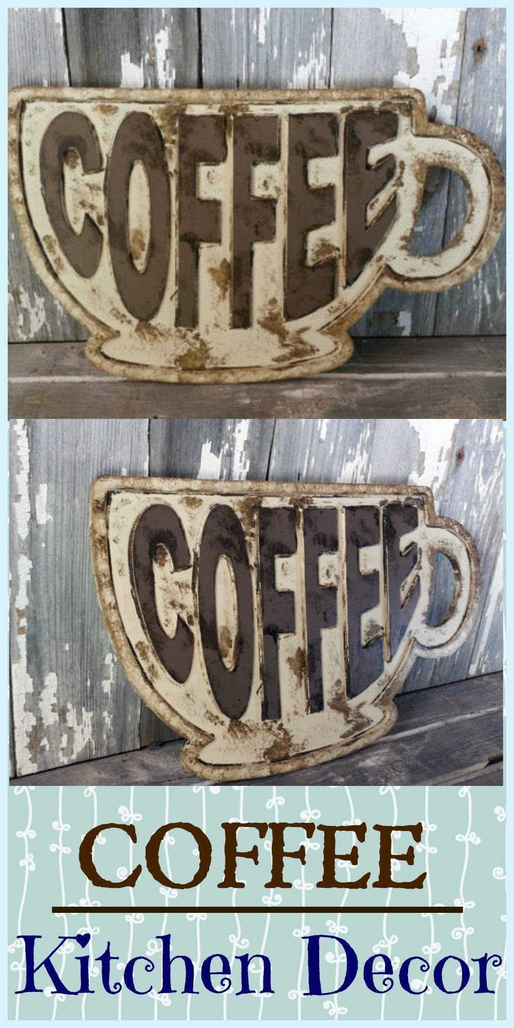 Coffee Kitchen Decor. I love this coffee wall sign that has a rustic ...