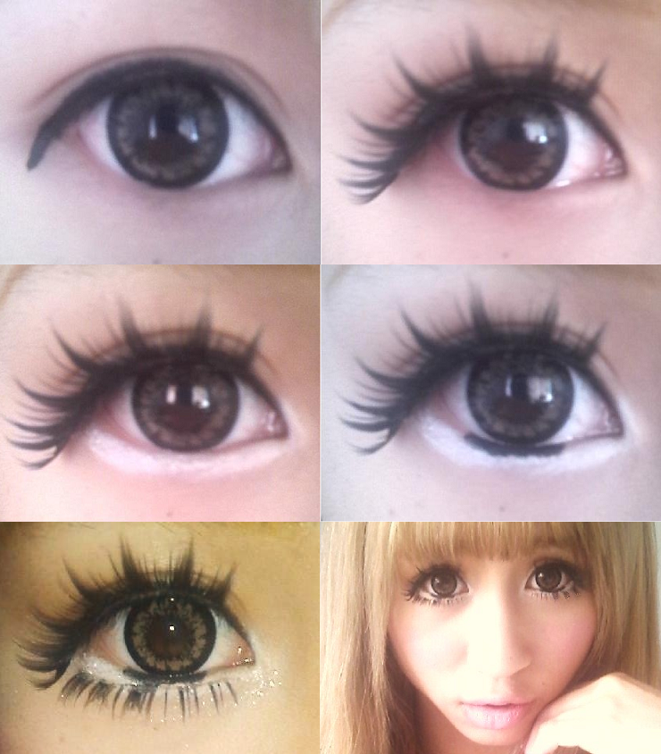 Eye makeup tutorial for female anime cosplay. Big, round