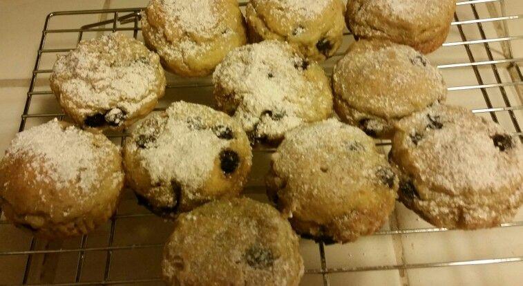 Gluten-free,  diary free, egg free, vegan blueberry muffins!