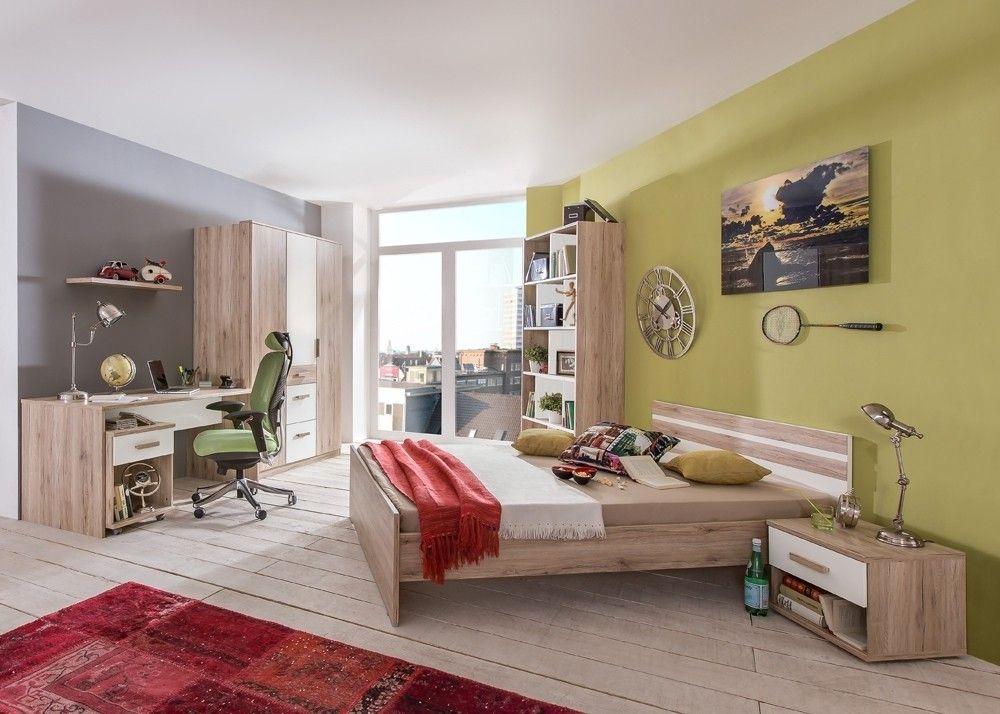 Jugendzimmer komplett Cariba Eiche mit Weiß 10347 Buy now at   - schlafzimmer komplett günstig