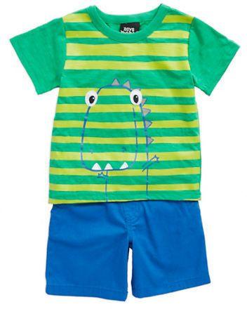 Boys Rock Baby Boys 2-Piece Dino Shirt and Shorts Set Original price: $32 - Sale price: $15.99