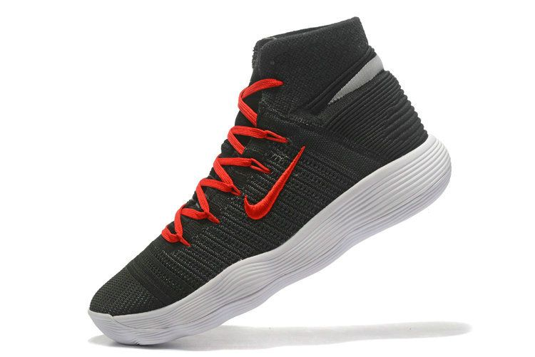 25b065a906a Genuine Nike Hyperdunk 2017 Elite Flyknit Black University Red White Mens  Basketball Shoes 2018 For Sale