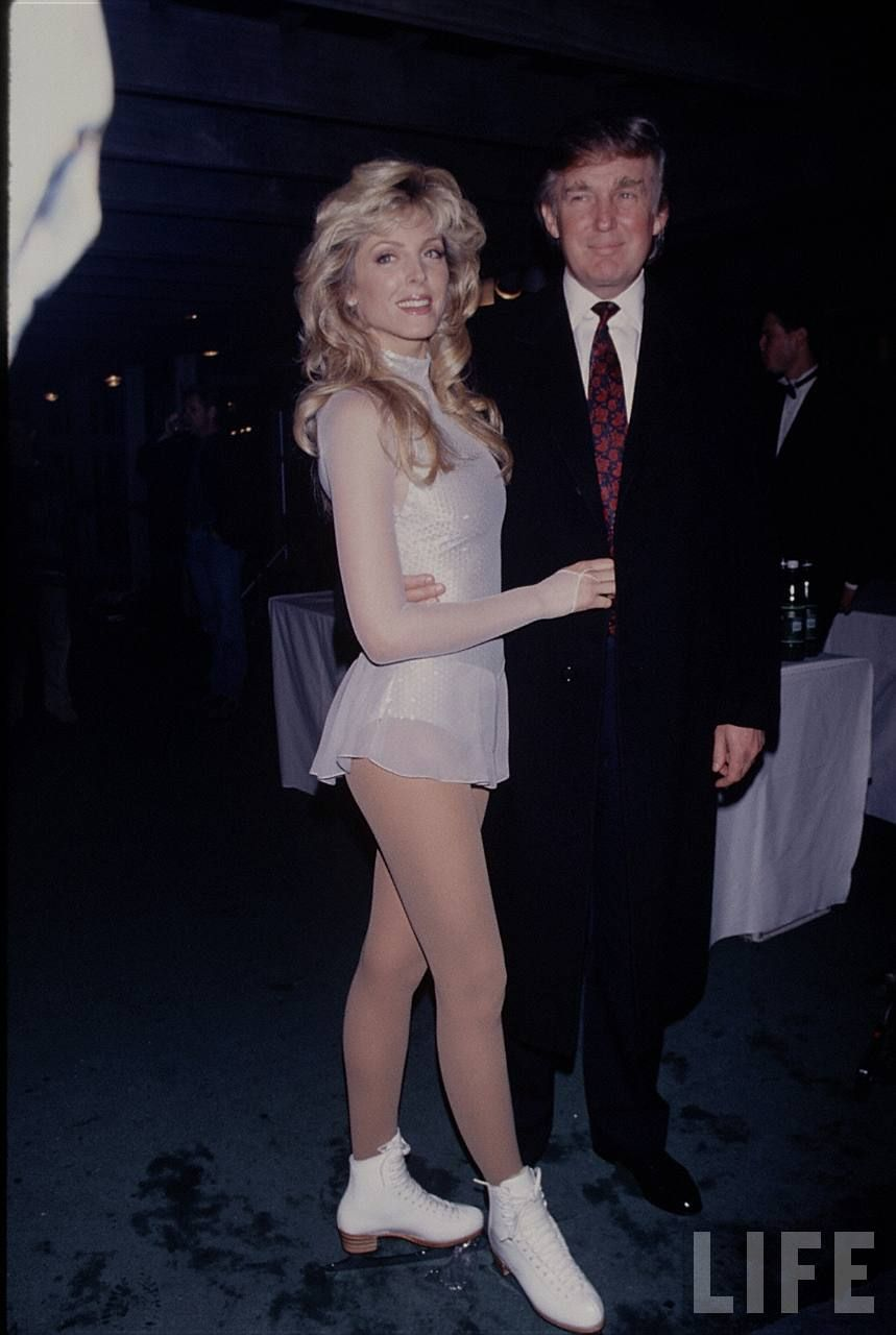 Donald Trump married Marla Maples in 1993 after divorcing Ivana. (Source:  Getty Images)