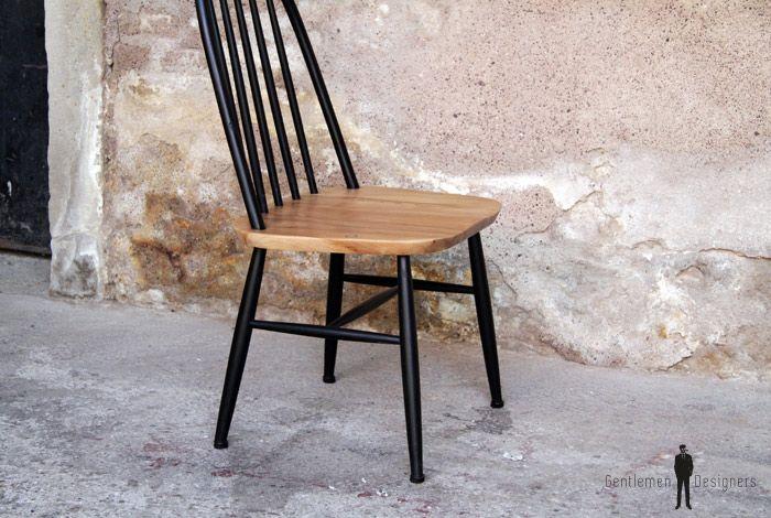 Gentlemen designers mobilier vintage made in france for Chaise vintage bois