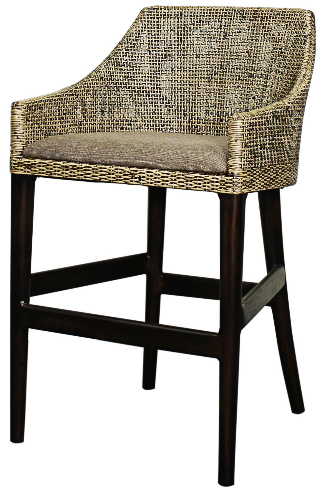 Orlanda Counter Stool With Black Shadow Leg Solid Mindy Wood And Rattan Materials Npd Counter Stools Wood Counter Stools Rattan Counter Stools