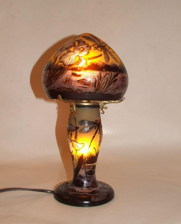 Lampe Tip Galle En Pate De Verre Decoration Interieure