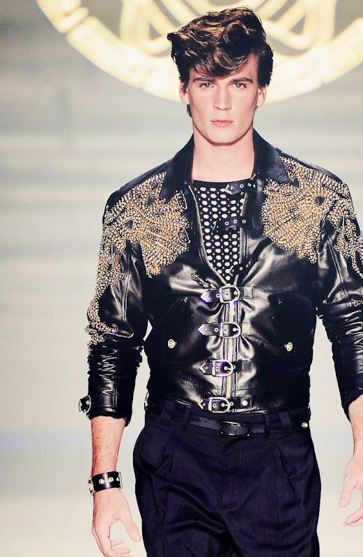 pretty nice wide range agreatvarietyofmodels Versace summer spring collection 2012! studded men's leather ...