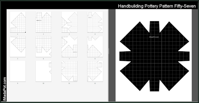 Printable Pottery Templates Handbuilding Patterns Imadapot Pottery Patterns Pottery Slab Pottery