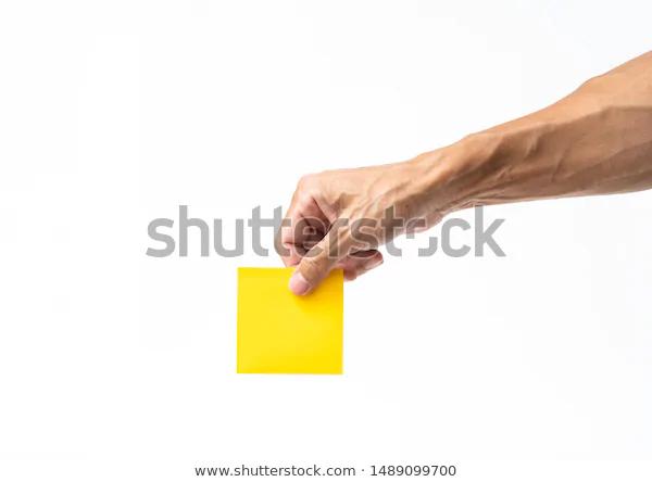 Man Hand Holding Yellow Post On Stock Photo Edit Now 1489099700 Holding Hands Male Hands Photo Editing