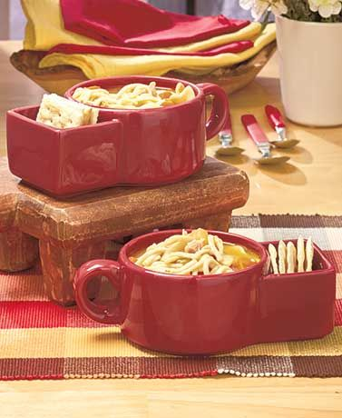 Get The Best Of Both Worlds With This Set Of 2 Stoneware Soup Side