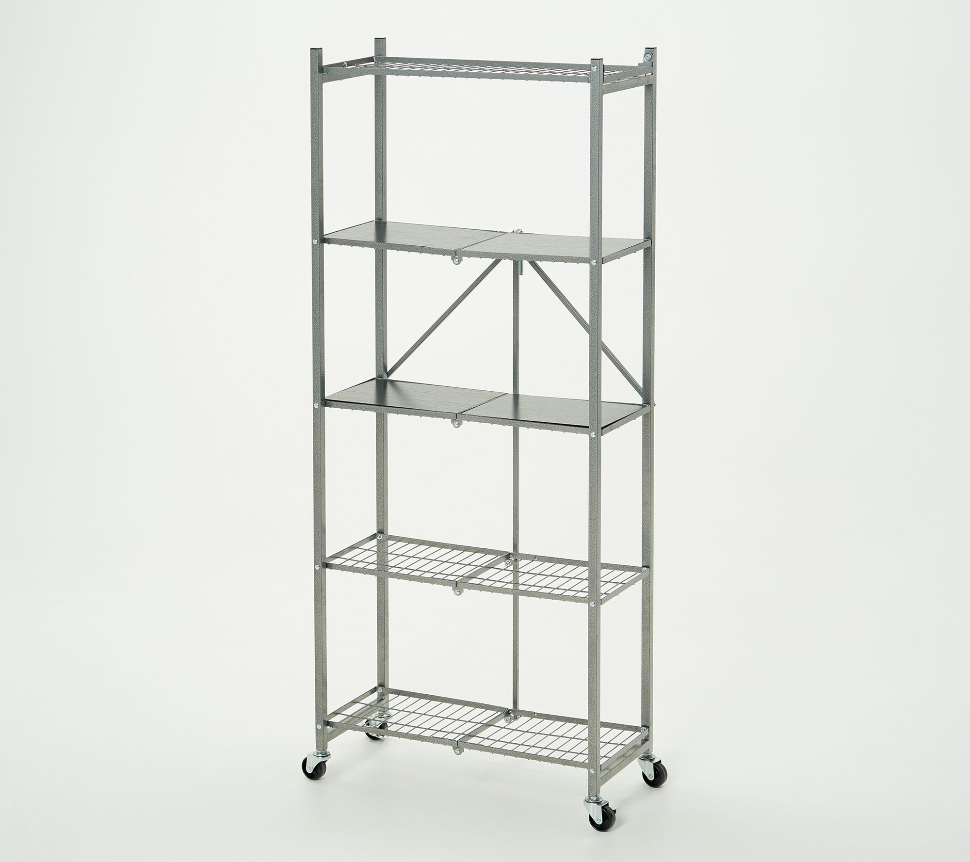 Pop It 5 Tier Multipurpose Collapsible Shelf W Liners Qvc Com