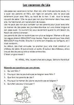 Compréhension De Textes Courts Ce1 Aprender Francés