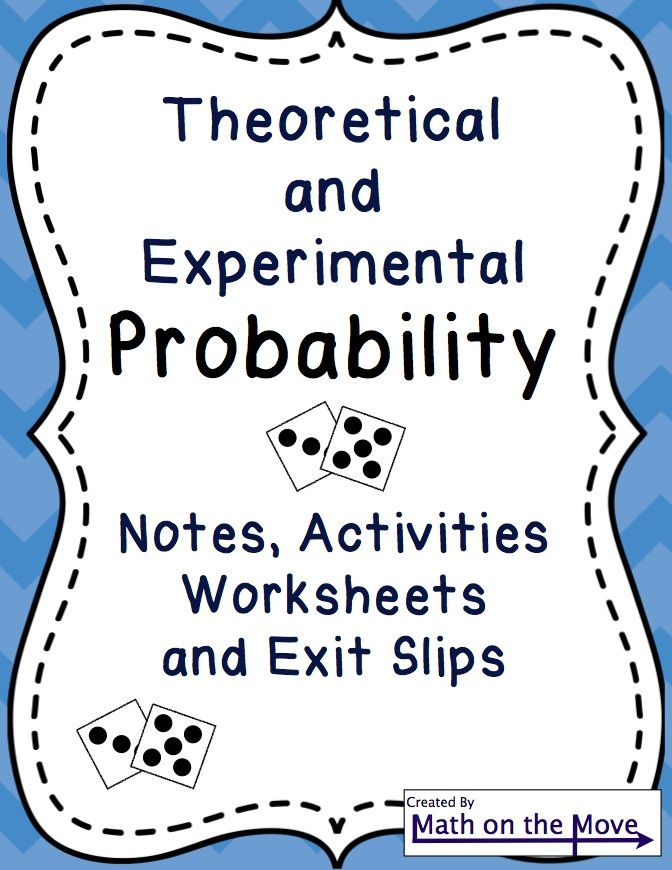 Students explore and calculate theoretical and experimental – Experimental Probability Worksheets