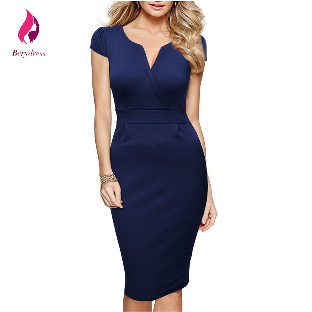 summer special occasions navy blue formal dress with short