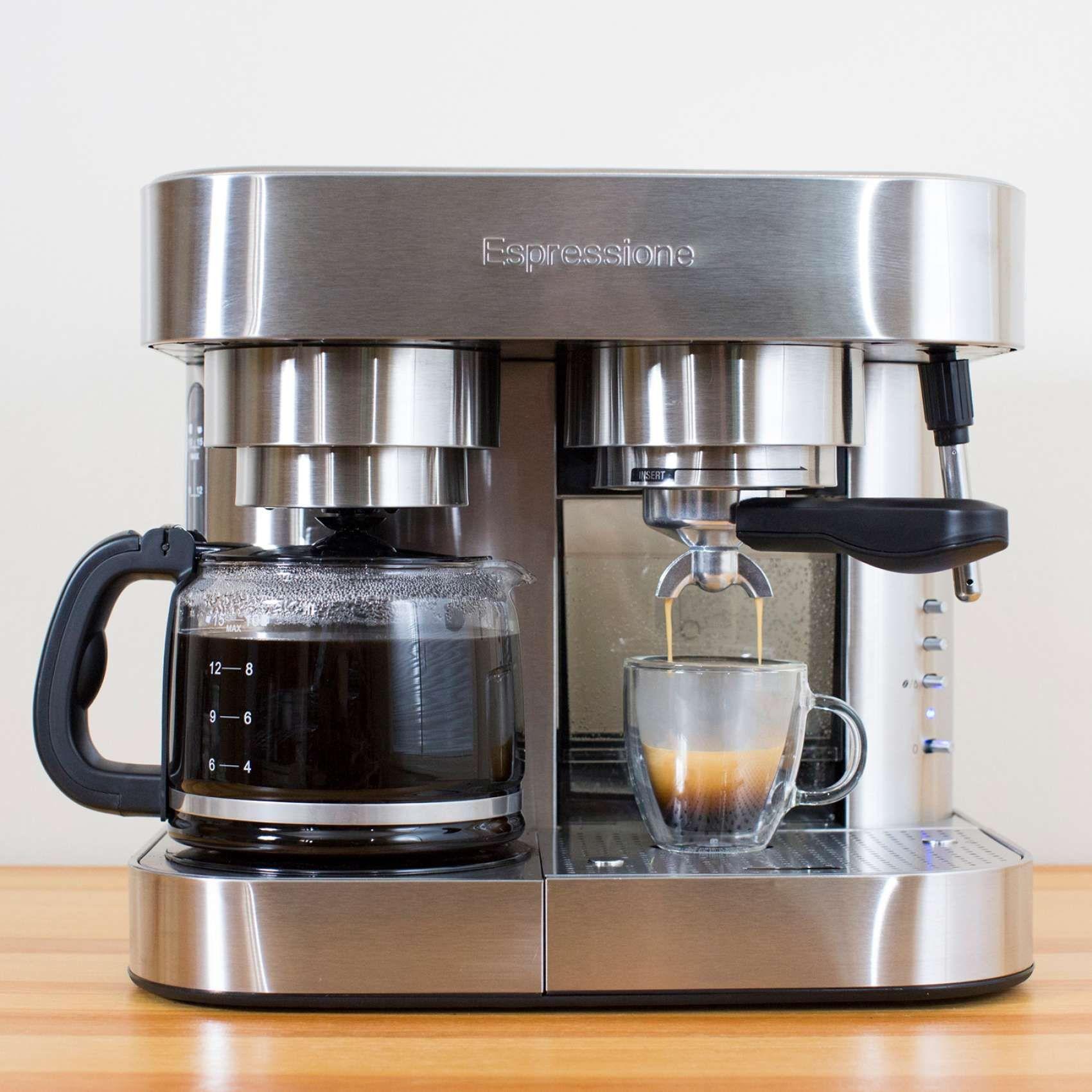 Espressione Em 1040 Combination Espresso Machine And Coffee Maker 10 Cup Sur La Table In 2020 Percolator Coffee Percolator Coffee Maker Best Coffee Maker