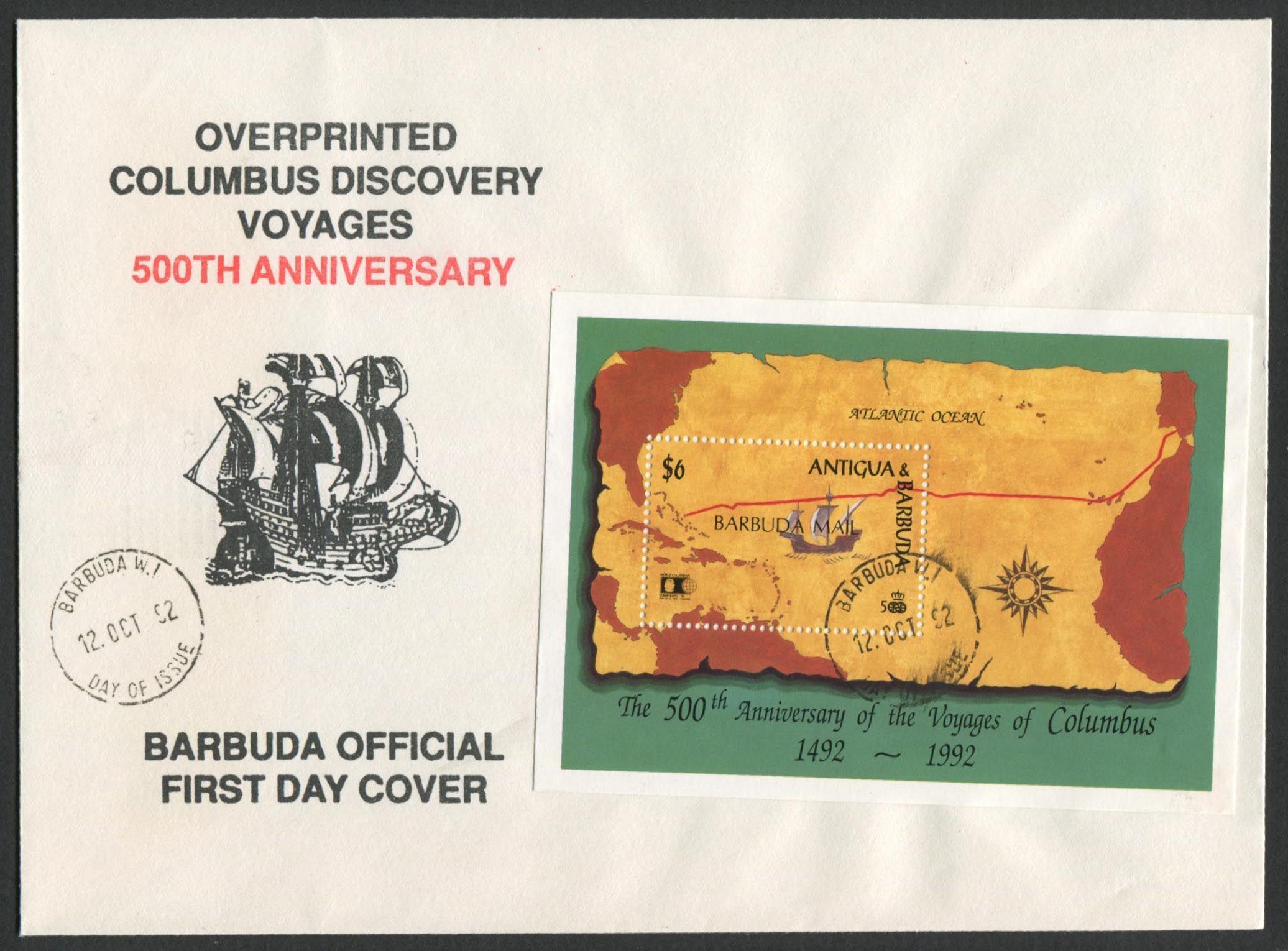 Barbuda Scott 12 Oct Souvenir Sheet With