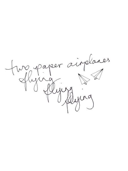 Paper airplanes flying