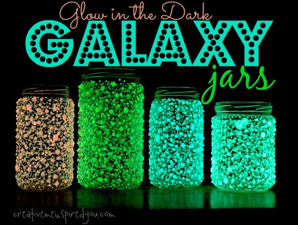 Glow In The Dark Galaxy Jars