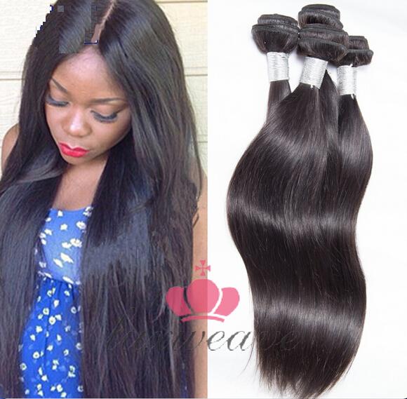 Top Quality Brazilian Virgin Hair 4Pcs Silky Straight Hair Weaves Extensions