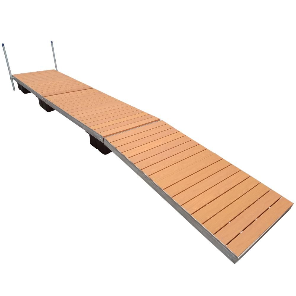 Patriot Docks 32 Ft Low Profile Floating Dock With Brown Aluminum