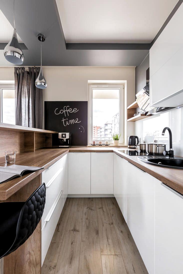 Eine Küche in U Form passt auch in kleine Räume und bietet ...