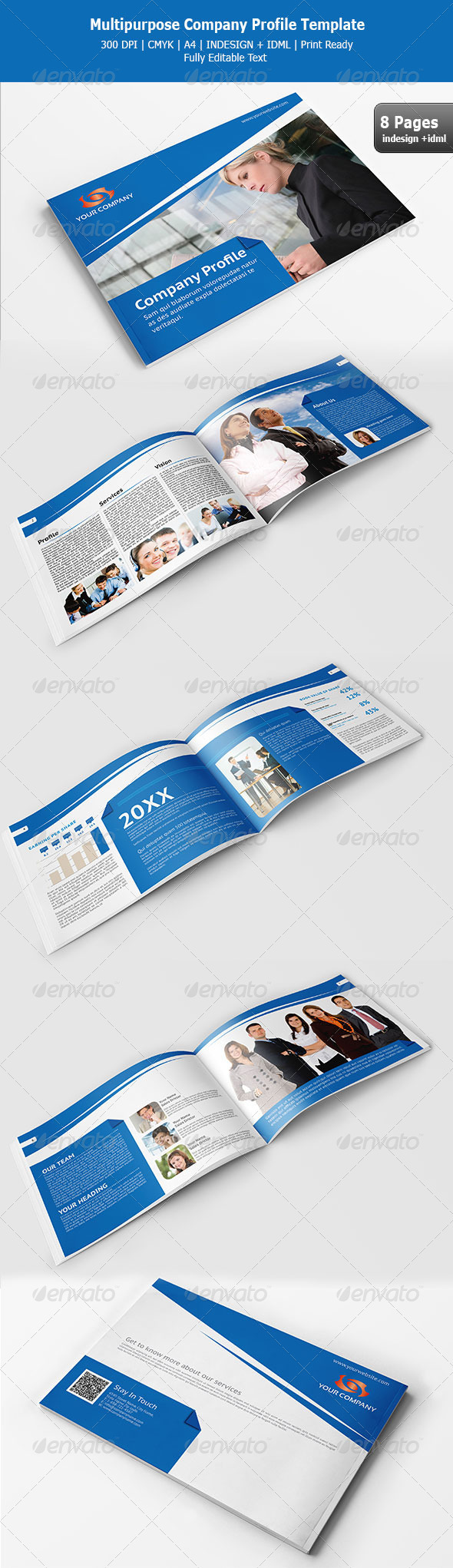 Multipurpose Company Profile Template – Corporate Profile Template