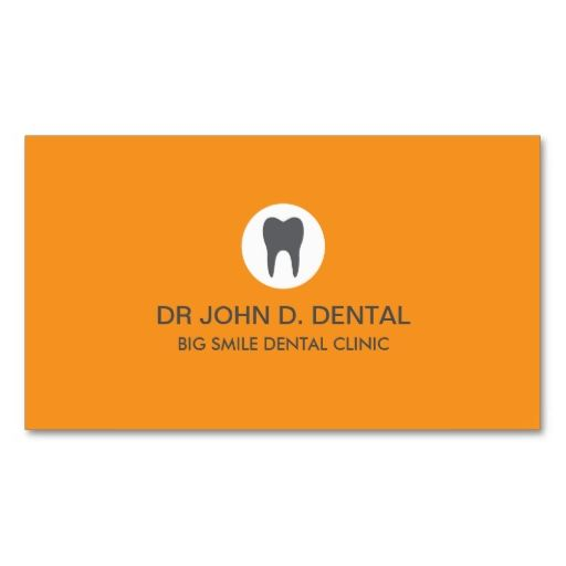 Dentist, dental gray business card with tooth logo. This great business card design is available for customization. All text style, colors, sizes can be modified to fit your needs. Just click the image to learn more!