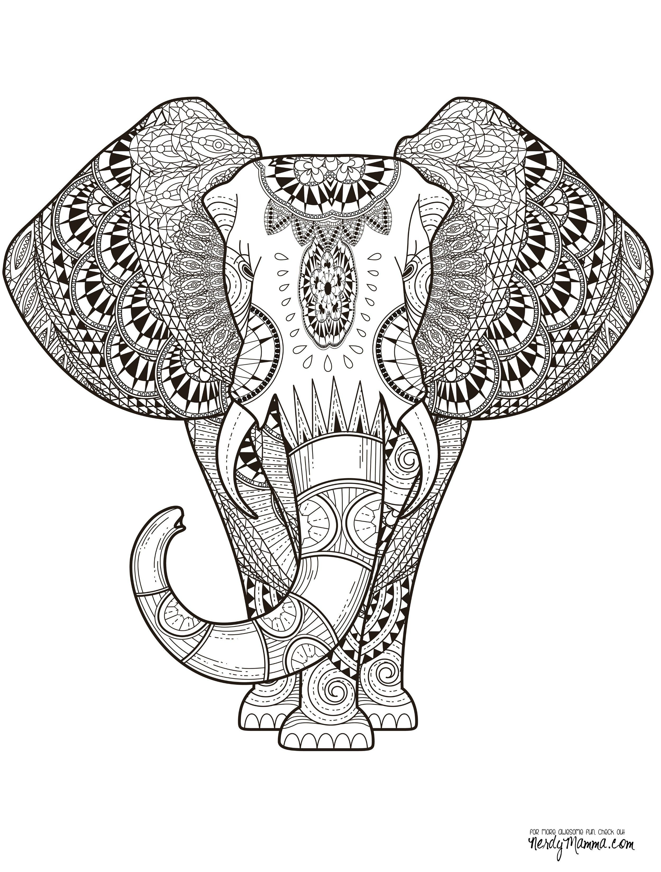 9300 Coloring Pages Mandala Animals , Free HD Download
