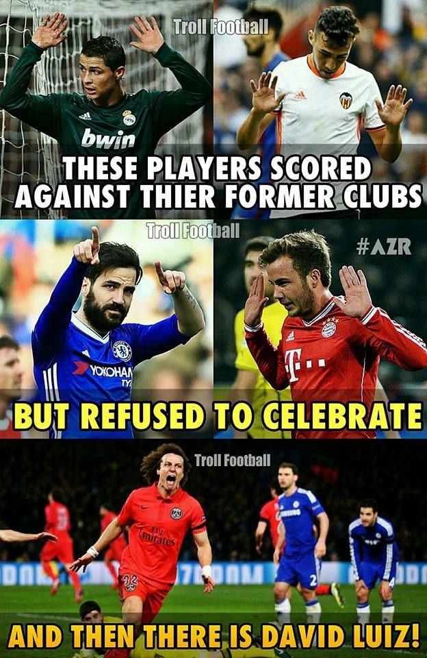 David Luiz Funny Soccer Memes Soccer Funny Soccer Jokes