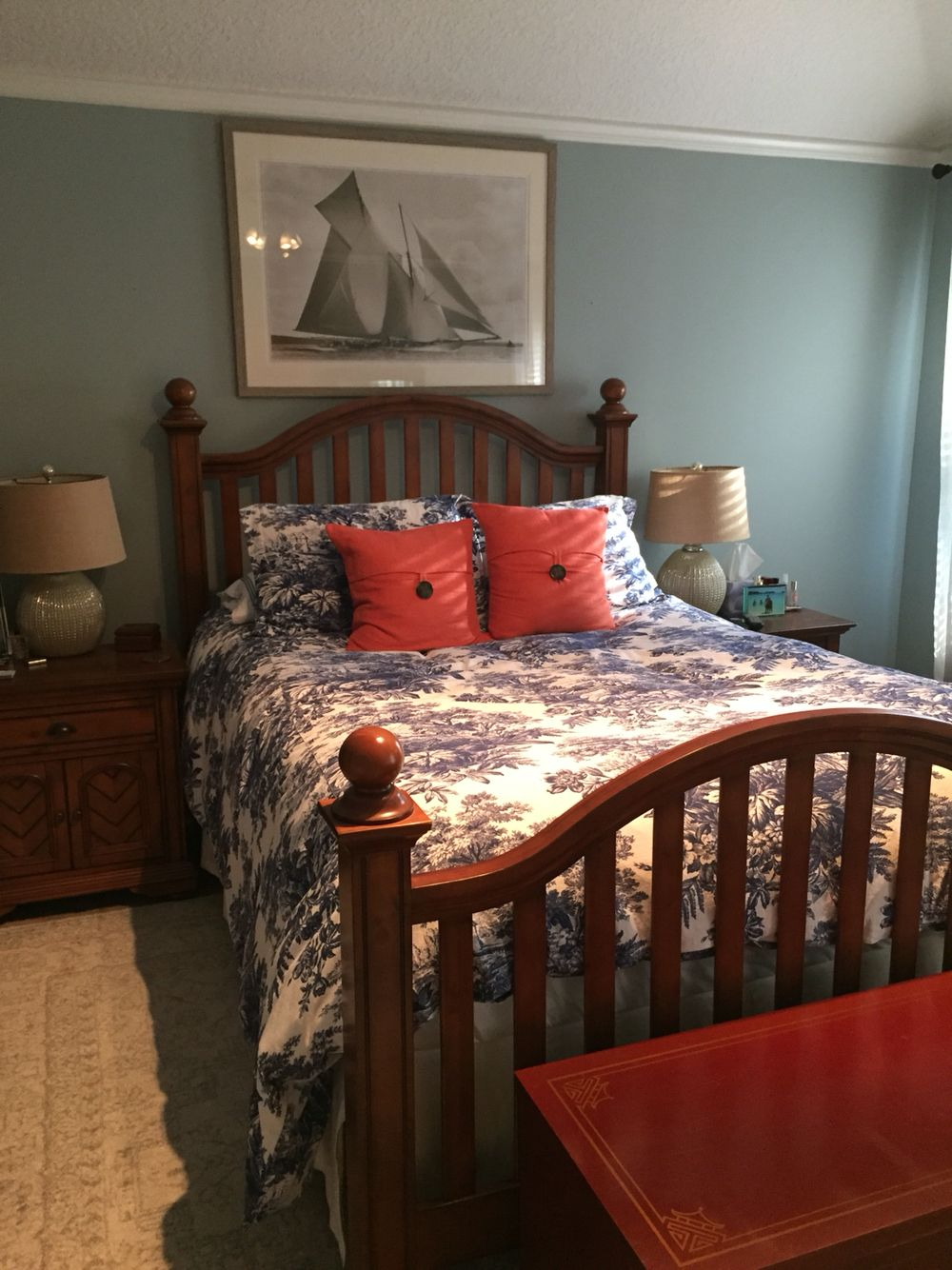 "remarkable wedgewood gray bedroom | Master Bedroom. Benjamin Moore ""Wedgewood Gray"" walls ..."