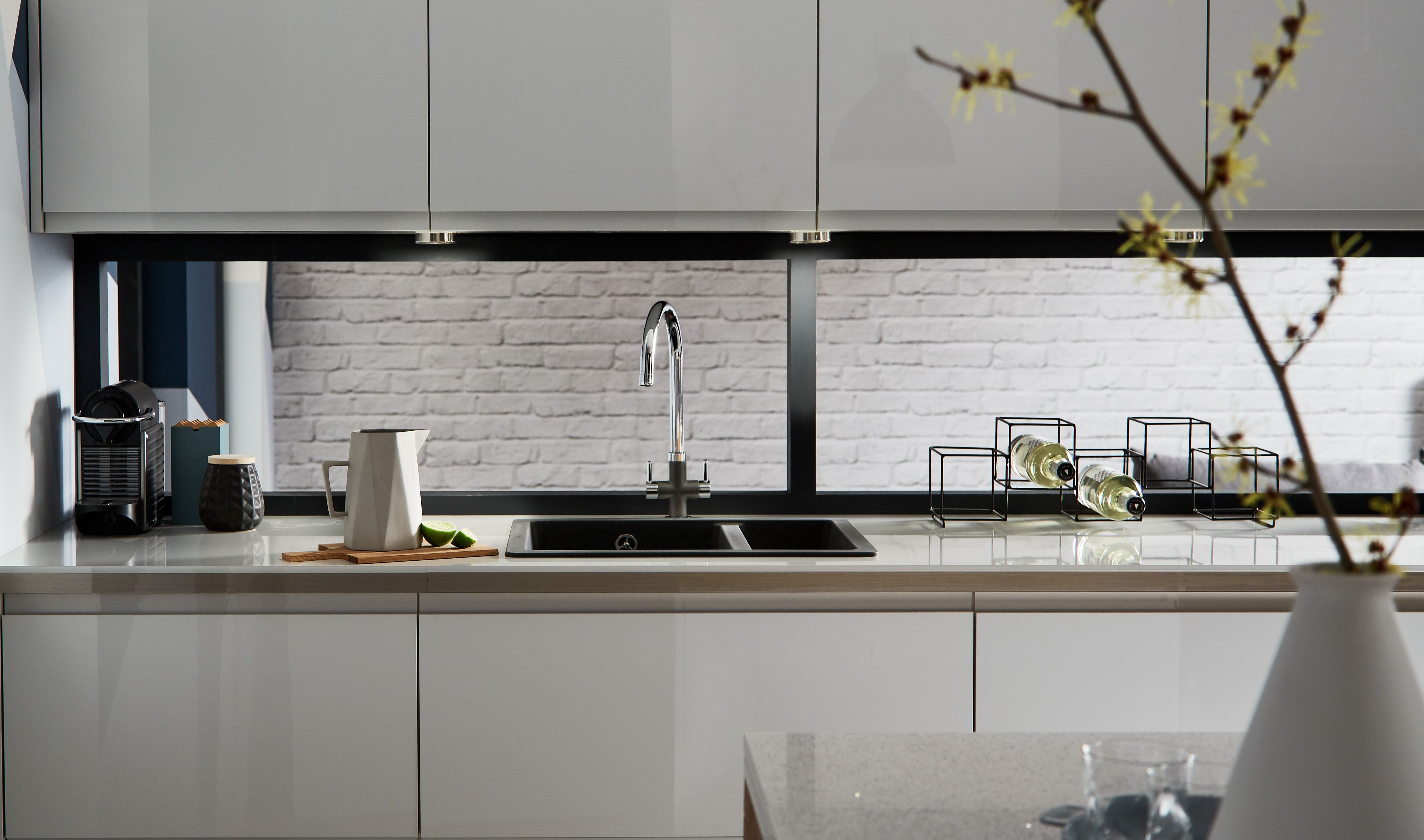 Grey Kitchen Cabinets Howdens our clerkenwell gloss dove grey kitchen rangehowdens. | kitchens
