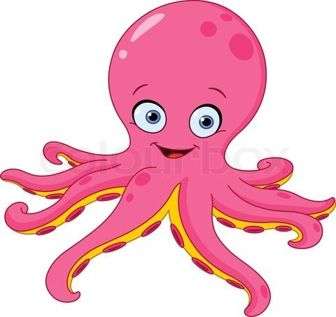 octopus cartoon | Stock vector of 'Cute octopus' | Animals ...