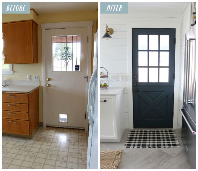 Küche Klein · Küchen · Door Color  Blue Note By Benjamin Moore. The  Inspired Room Kitchen Remodel Before And